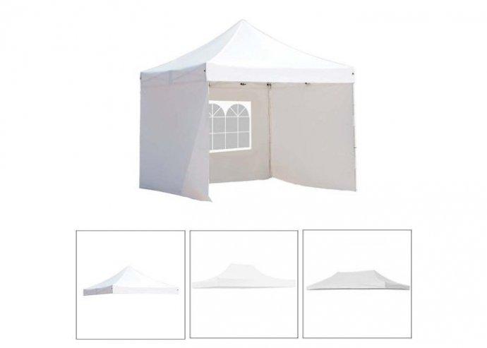 Pavilon ponyva több típusban - fehér - 2,9 x x 4,25 m