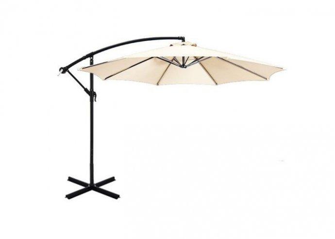 Függő napernyő, 2,7m - krém
