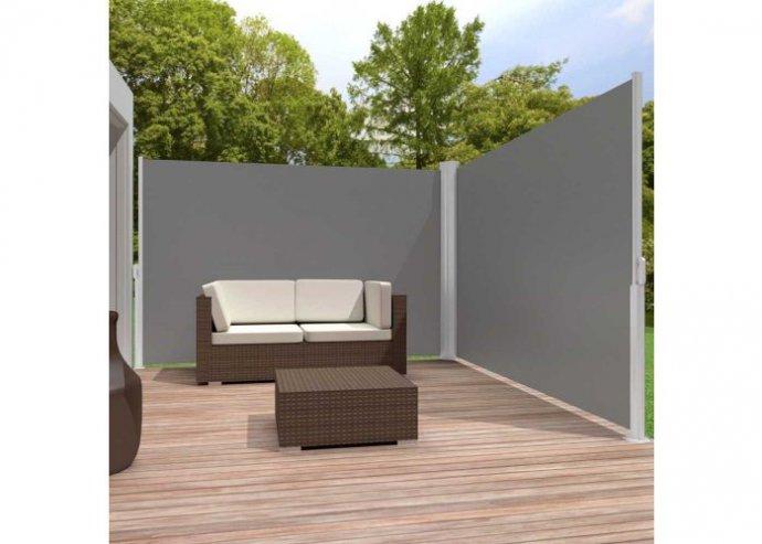 Kihúzható árnyékoló fal, 2*160*300 cm - sötét szürke
