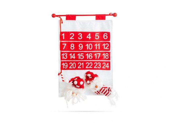 Adventi naptár - mikulás, hóember - 50 x 39 cm