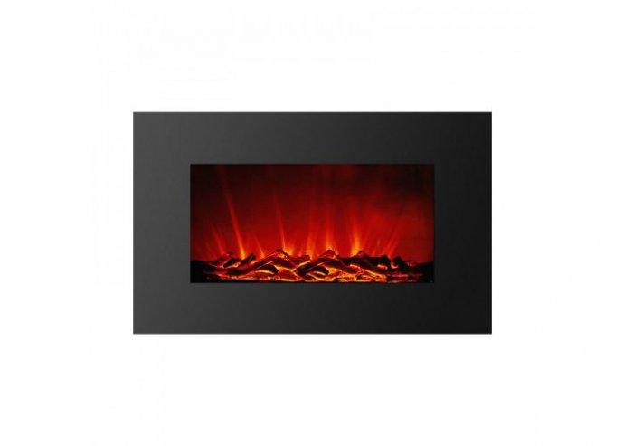 Elektromos fali kandalló - hősugárzó + LED - 91 x 15 x 56 cm