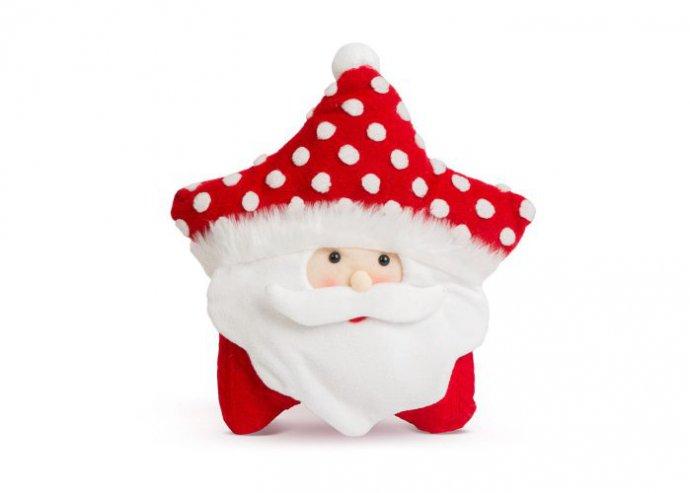 Karácsonyi 3D díszpárna - mikulás - 35 x 42 cm