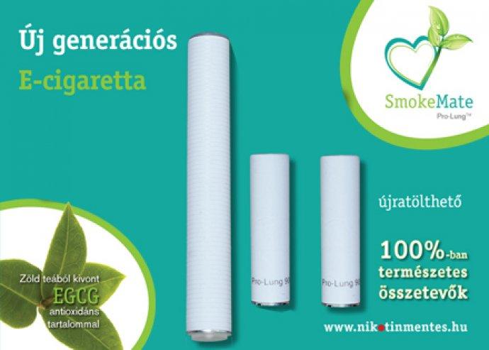 Nikotinmentes, zöld teából nyert kivonattal! Standard Smoke Mate elektromos cigaretta csomag.