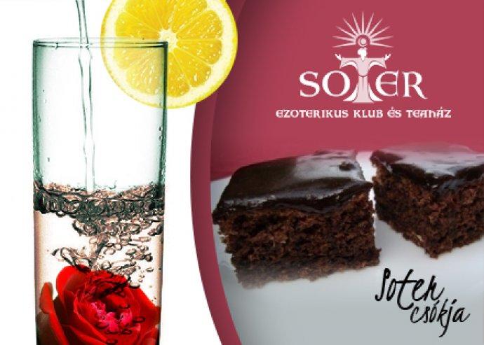 Kóstolj bele a jövendődbe! 2 x 4 dl rózsavizes limonádé + 2 db soter csókja süti.
