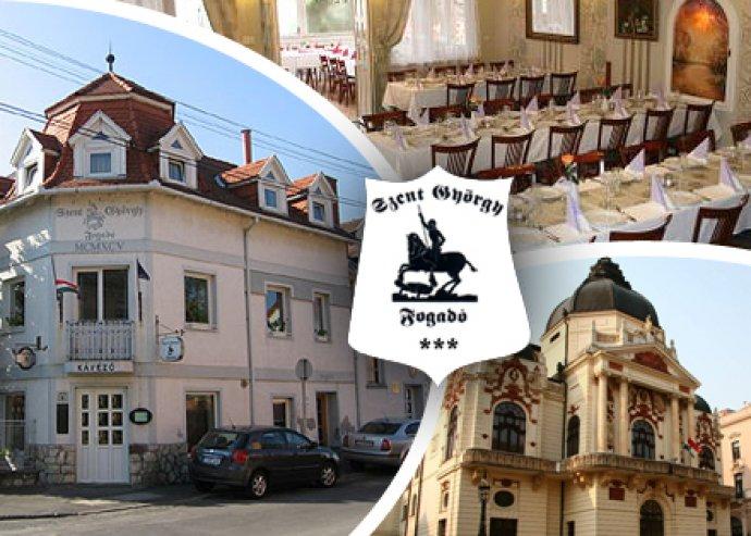 Szállás 2 fő részére, 2 éjszakára, svédasztalos reggelivel, menüválasztásos vacsorával Pécsen a Szent György Fogadóban.