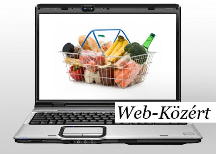 Élelmiszerrendelés a netről ingyenes házhozszállítással a Web-Közért kínálatában