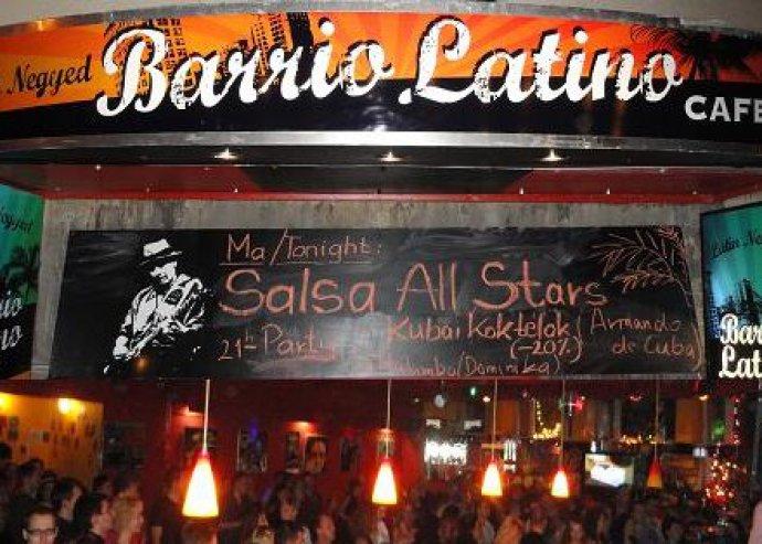 Stand-up Comedy Est + Merenge tanítás + Kubai élőzenés Salsa Party Április 21-én szombaton a Barrio Latino Caféban