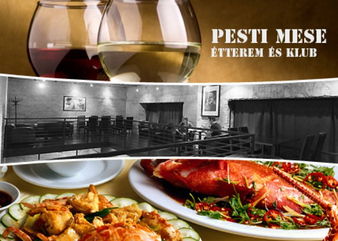 Étel és italfogyasztás a Pesti mese Étterem és klubban