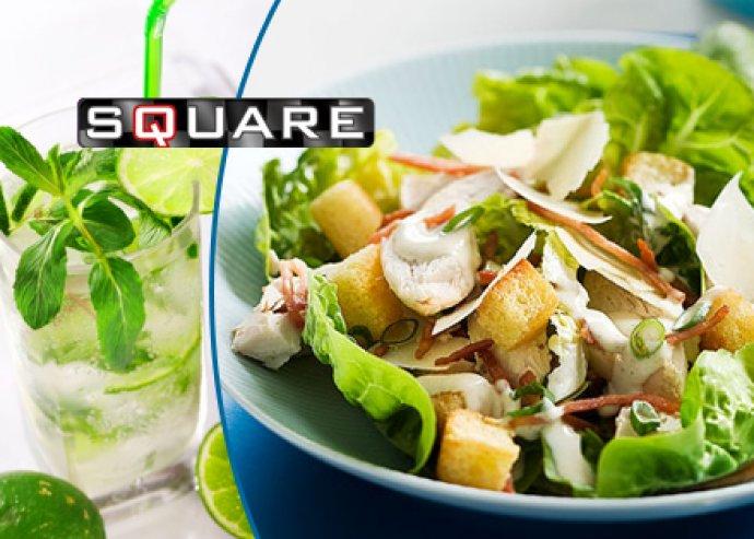 Cézár saláta csirkével és friss limonádé (4dl) 2 fő részére