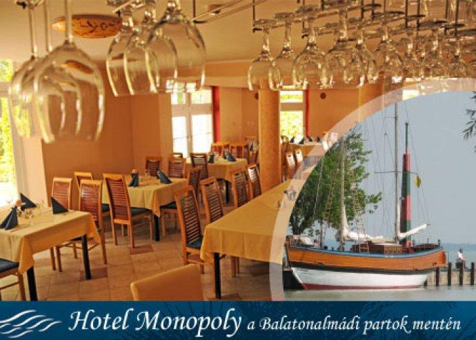 3 nap 2 éjszaka 2 fő részére félpanziós ellátással Balatonalmádiban a Hotel Monopoly*** szállodában