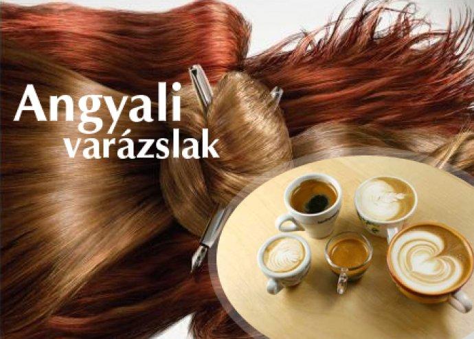 Ápoló mosás, hajvágás és formára szárítás + kávé, tea vagy capuccino