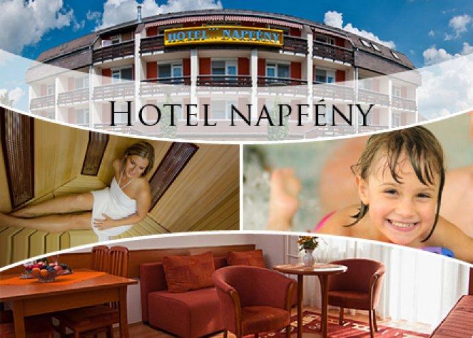 3 nap/2 éj 2 fő részére büféreggelivel, a Hotel Napfényben, fürdőjegy a Gránit Gyógyfürdőbe