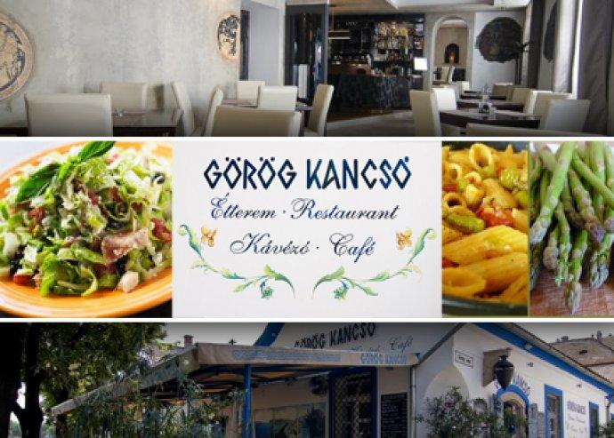 Ételfogyasztás a Görögkancsó étteremben 2 főnek