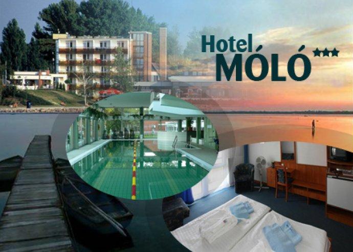 4 nap/ 3 éj két fő részére, félpanziós ellátással a Hotel Mólóban, Siófokon