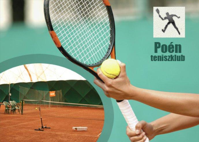 Pályabelépő egy órára a Poén Teniszklubba