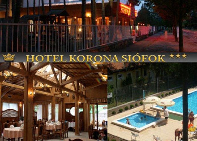 3 nap / 2 éjszaka 2 fő részére, félpanzióval a Hotel Koronában Siófokon