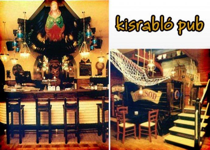 A la carte ételfogyasztás 2 fő részére a Kisrabló Pub éttermében