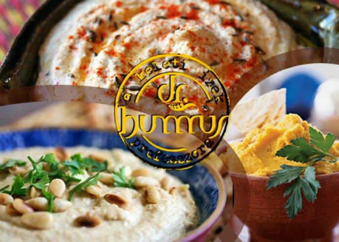 A' la carte étel- és italfogyasztás a Dr. Hummus falafel és hummus bárban most fél áron