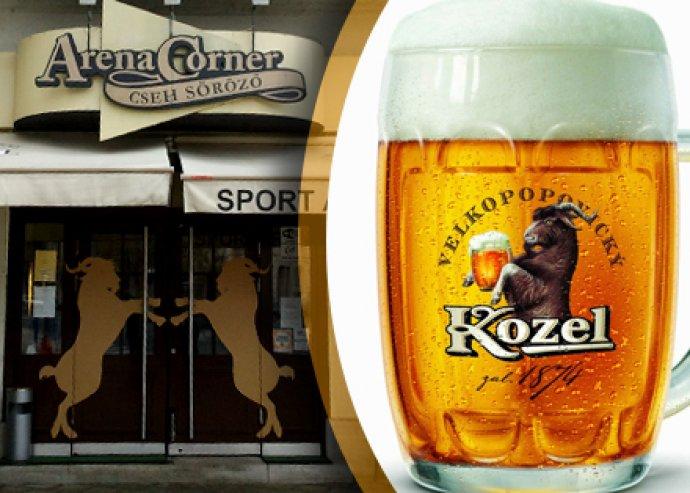 Két személyes ételfogyasztás az Arena Corner Cseh Söröző és Étteremben