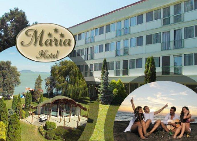 5nap / 4éj / 2fő részére all-inclusive ellátás a Hotel Mária-ban Balatonmáriafürdőn