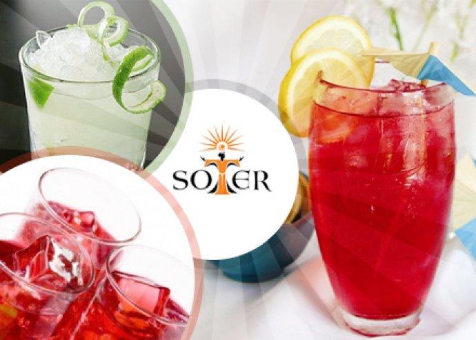 2 x 4dl hűsítő ital választható ízekben (rózsa vizes limonádé, jeges gyümölcs tea, mentás citromos tea, jeges kávé) a Soter Klubban