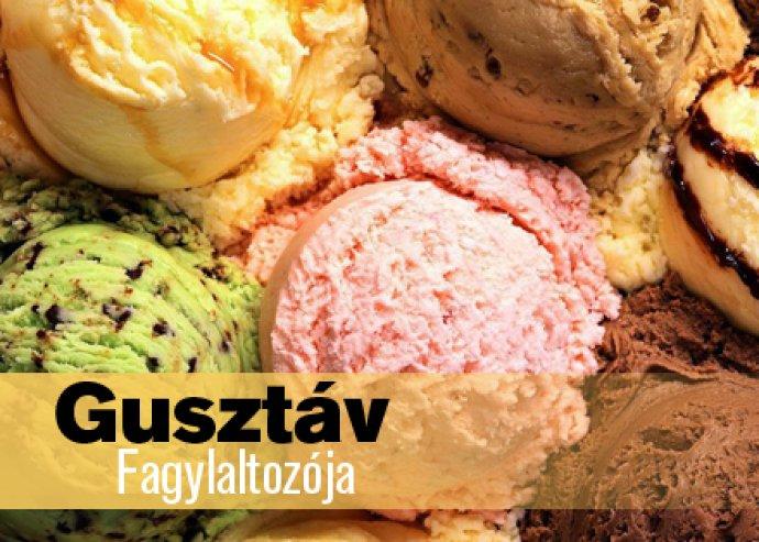 6 gombóc kézműves fagylalt Gusztáv Fagylaltozójában