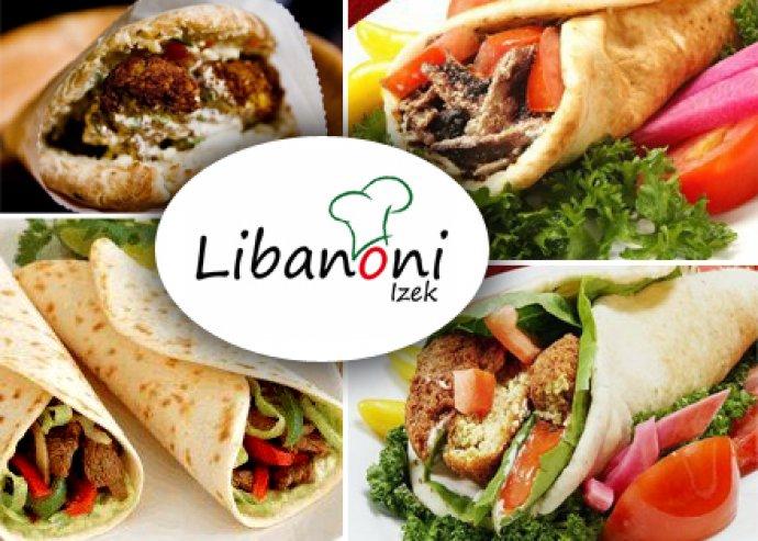 2 db libanoni gyros pitában vagy 2 db Fahita szendvics + 2 db 0,33 l üdítő