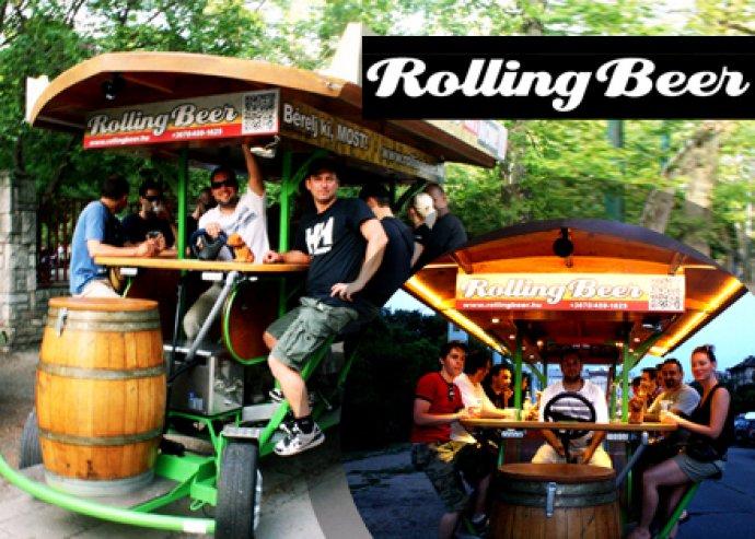 Egy órás RollingBeer út 30 liter sörfogyasztással 8-14 személy részére