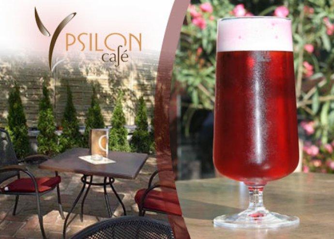 Két meggyes Radler sör az Ypsilon Café-ban