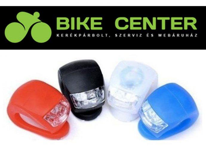 Taky villogó LED biciklilámpa 4 színben (fekete,fehér,piros,kék) gombelemmel
