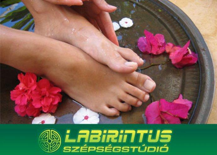 Kényeztető lábápoló kezelés a Labirintus Szépségstúdióban