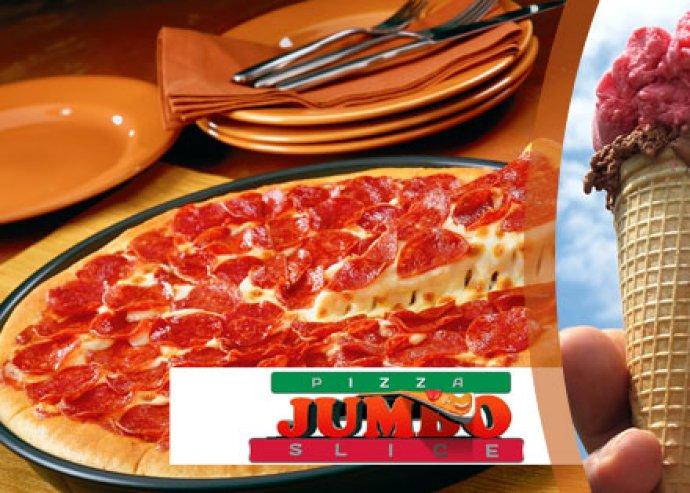 2 db 30 cm-es ropogós serpenyős pizza és 2 x 2 gombóc fagyi