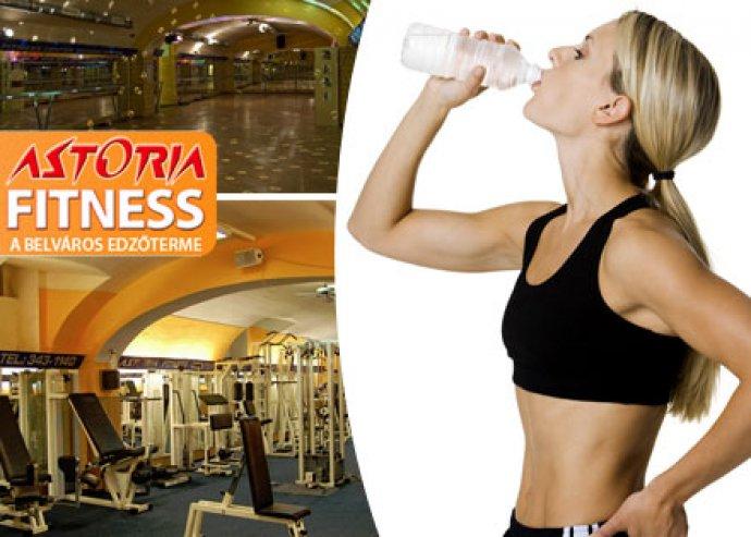 4 alkalmas kondibérlet az Astoria Fitnessben