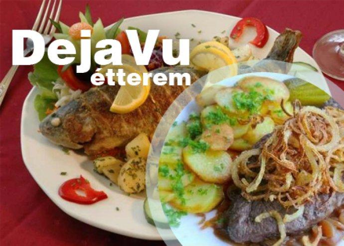 A la carte étel és italfogyasztás a Deja Vu Étteremben 2 fő részére