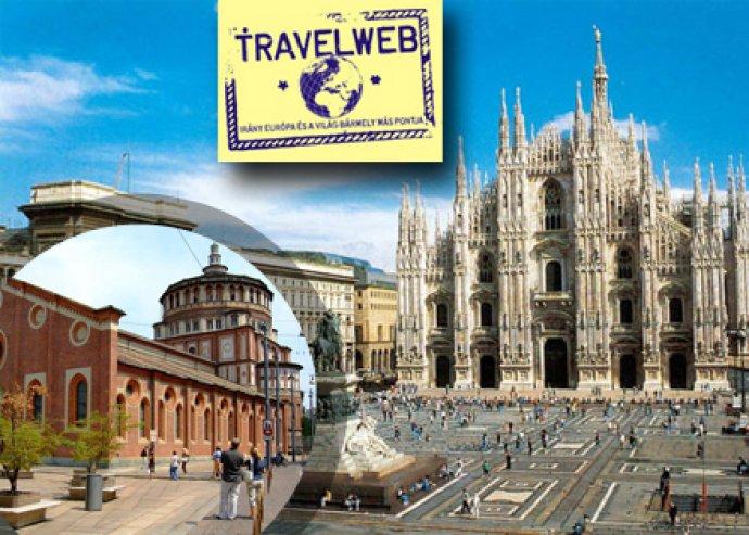 3 nap 2 éj 2 fő részére reggelivel, repülőjeggyel (reptéri illetékkel), egyéni városlátogatással Milánóba