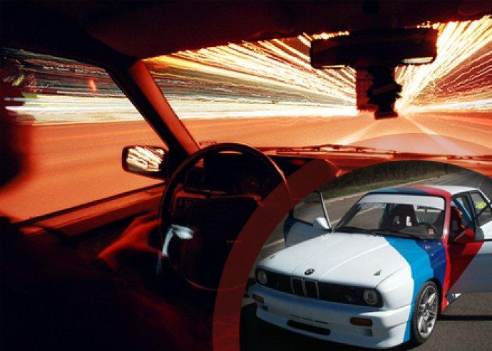 5 perc BMW E30 M3 extrém élményautó vezetés