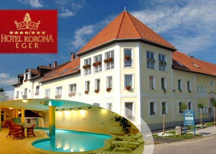 Szállás 2 éj/ 2 fő részére félpanzióval, wellness használattal az egri Korona Hotelben