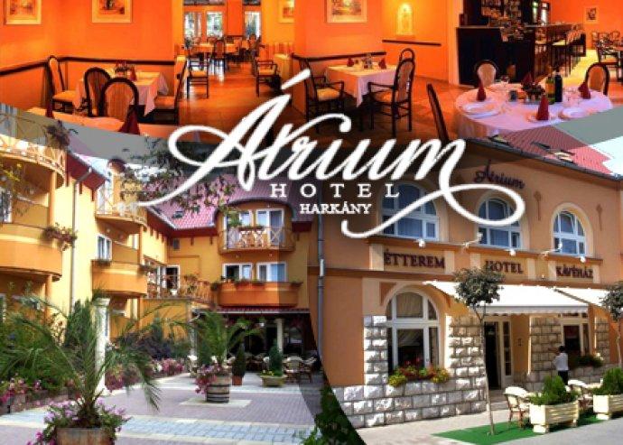 3 nap 2 éj félpanzióval az Átrium Hotelben, Harkány belvárosában