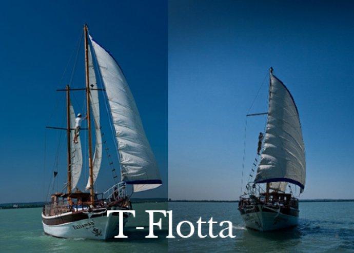 1 órás vitorlás hajótúra a Balaton legnagyobb vitorlásán
