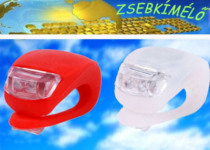 2 darab bicikli lámpa + 2 pót elem