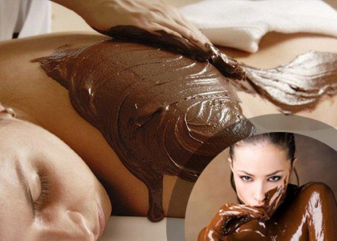 Csokoládémasszázs Lady Stella termékekkel, bőrradírozással, lazító masszázzsal, csokis pakolással, fóliázásssal