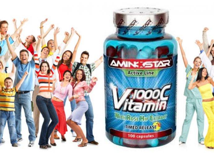 2 csomag 100 szemes 1000 mg-os Aminostar C-vitamin