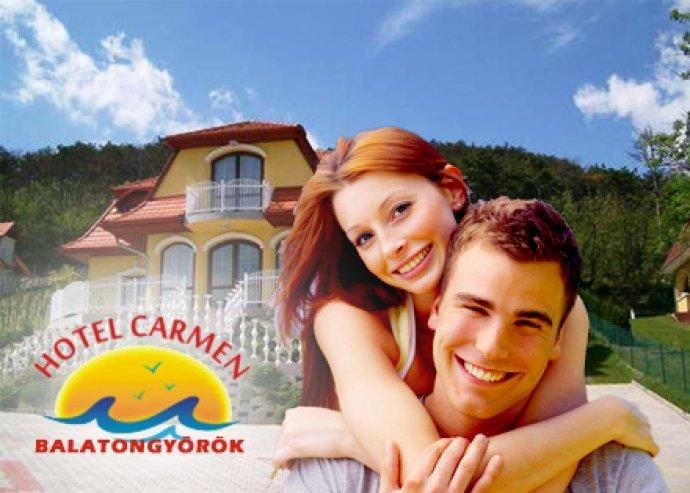 3 nap 2 fő részére félpanzióval a Hotel Carmen***-ben, Balatongyörökön