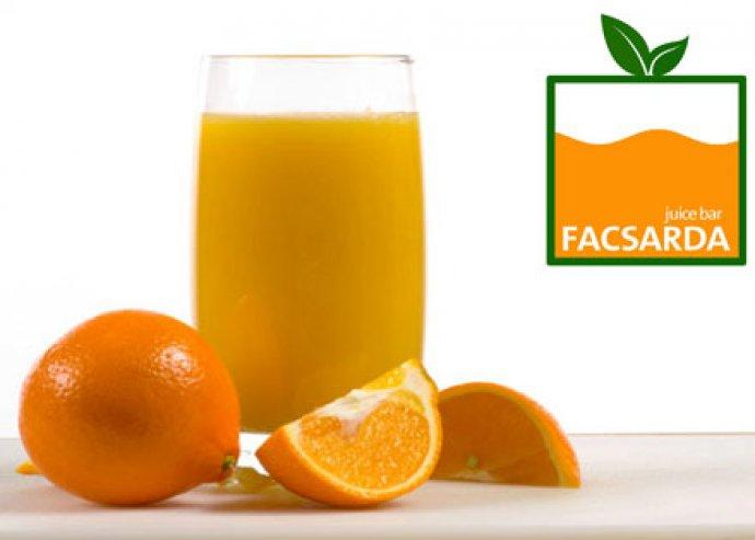 2 x 5dl friss narancslé a Facsardából
