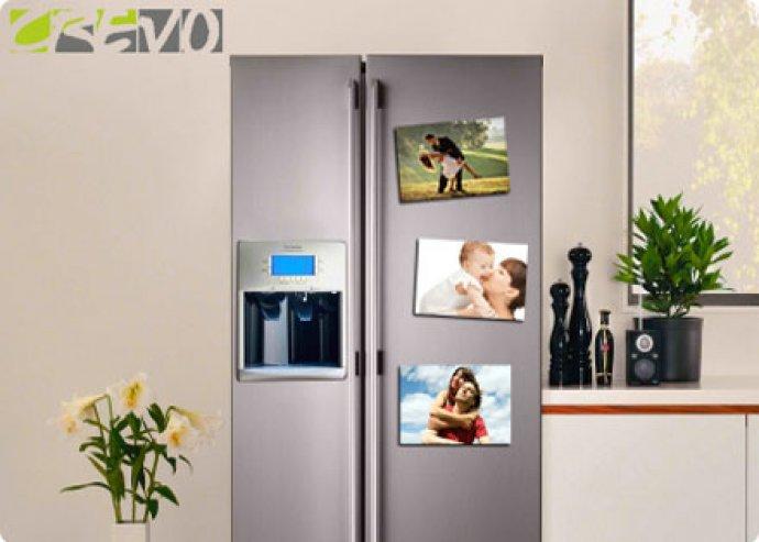 8 db egyedi fényképes vagy szöveges hűtőmágnes