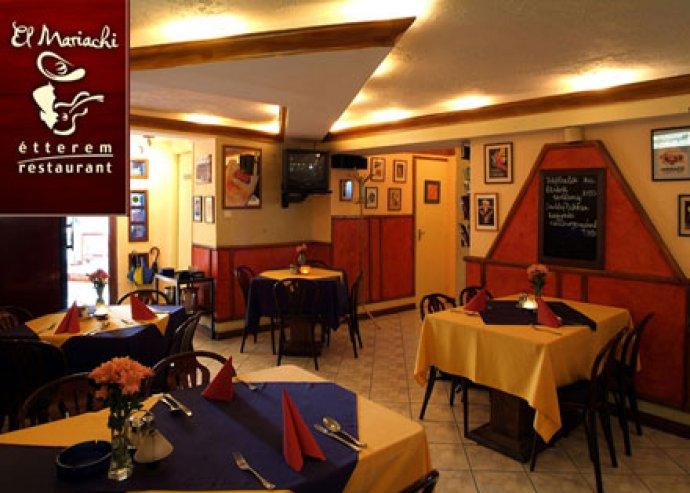 Étel és italfogyasztás 2 fő részére az El Mariachi étteremben