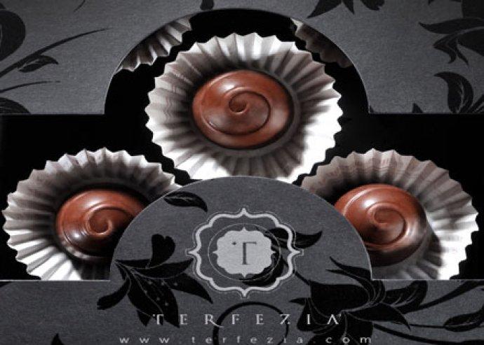 Terfézia szarvasgombás csokoládé bonbon