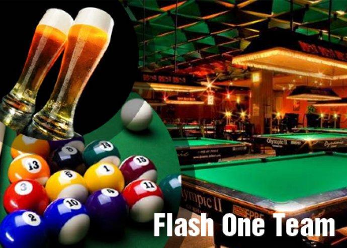 1 óra billiárd a Flash One Team Club-ban