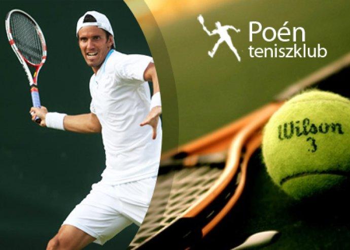 3 alkalmas teniszbérlet a Poén Teniszklubban