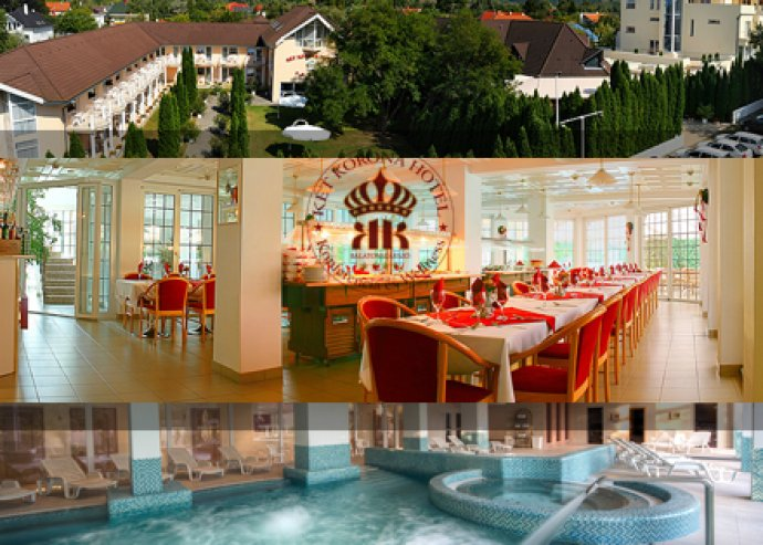 Balatoni szállás 2 fő részére a Két Korona Hotelben, félpanzióval